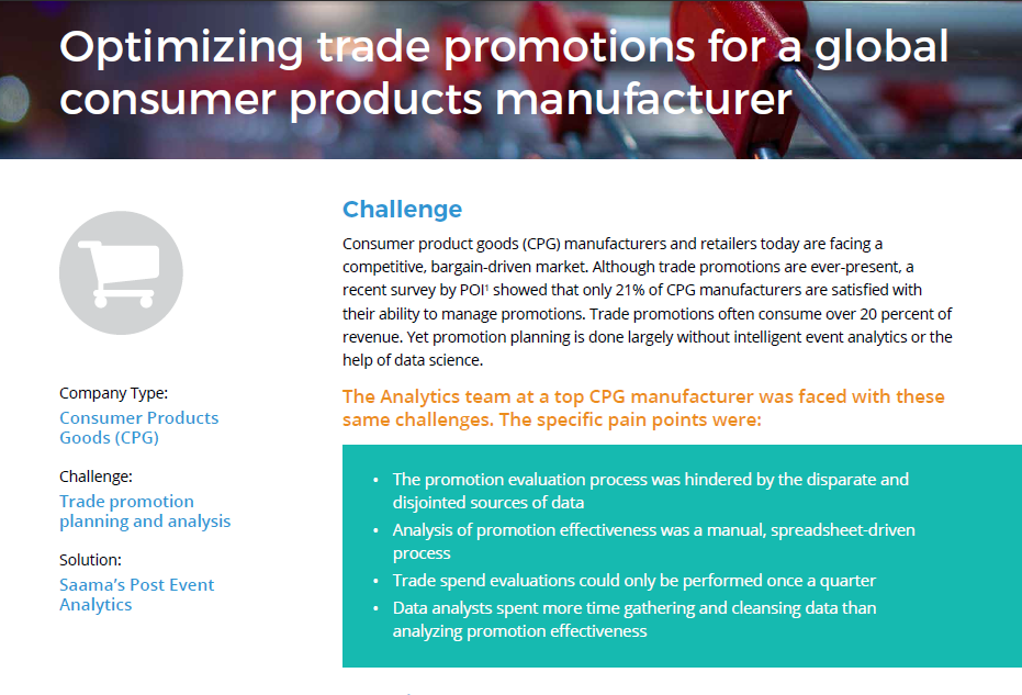 Optimizing trade promotions case study
