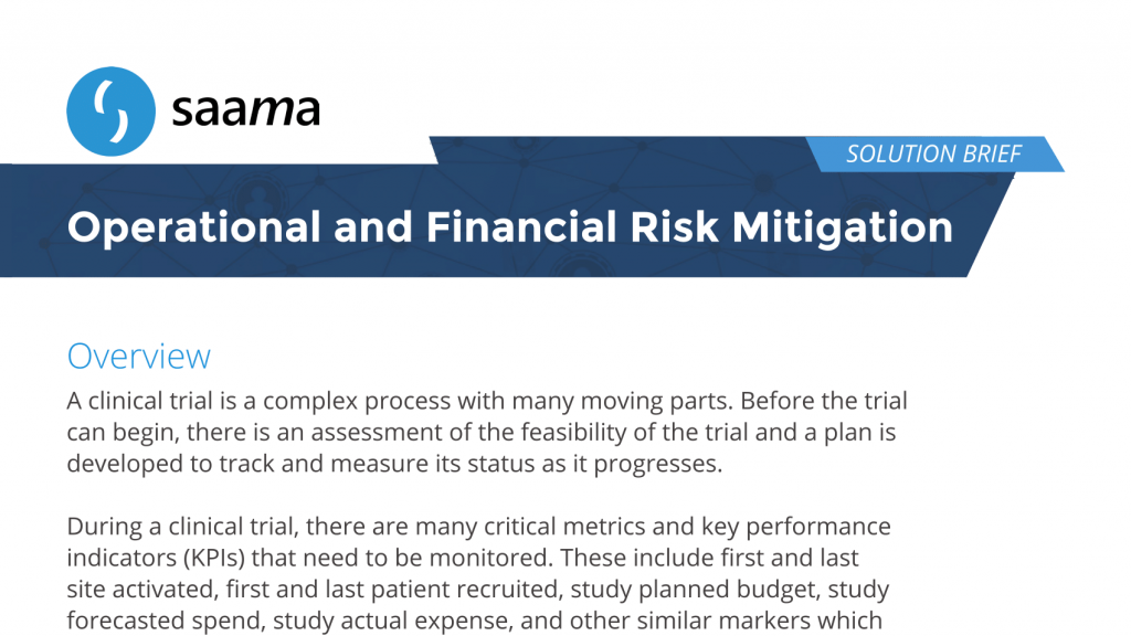 Operational and Financial Risk Mitigation Solution Brief